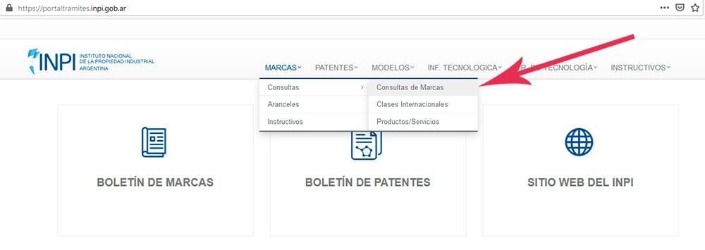 consultar si marca existe INPI Argentina