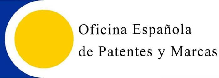 Logo de la Oficina Española de Patentes y Marcas.