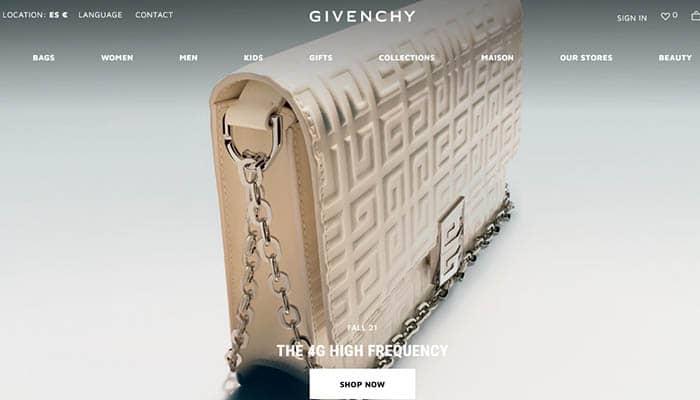 Marcas de ropa caras: Givenchy