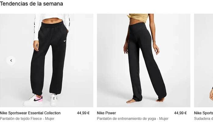 Marcas de ropa de mujer: Nike