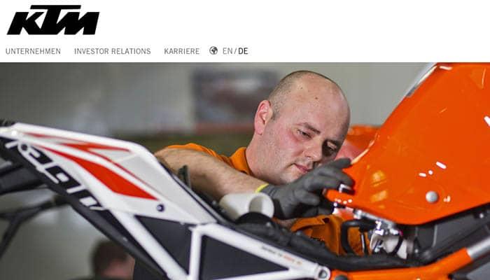 Marcas de cascos de moto: KTM AG