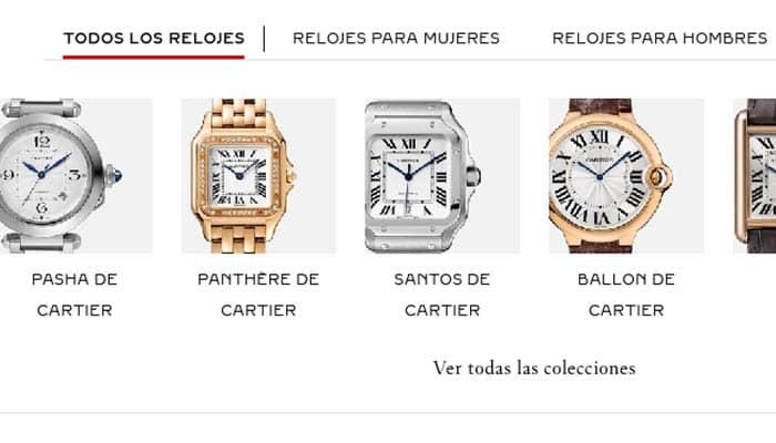 Marcas de relojes: Cartier