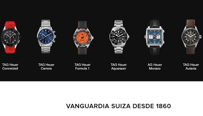 Marcas de relojes: Tag Heuer