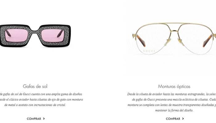 Marcas de gafas de sol: Gucci