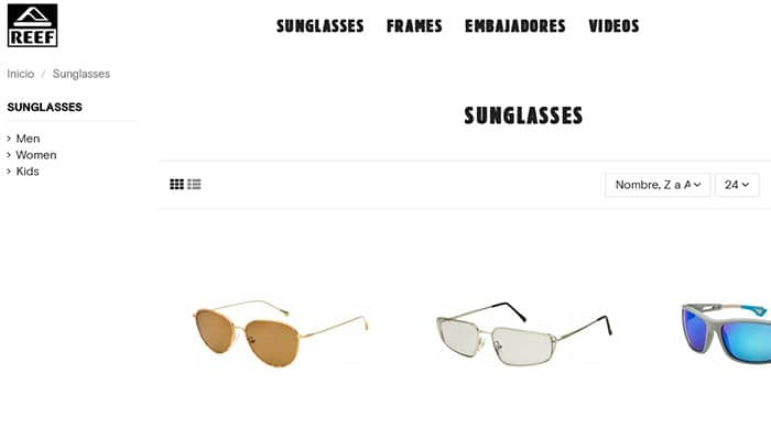Marcas de gafas de sol: Reef